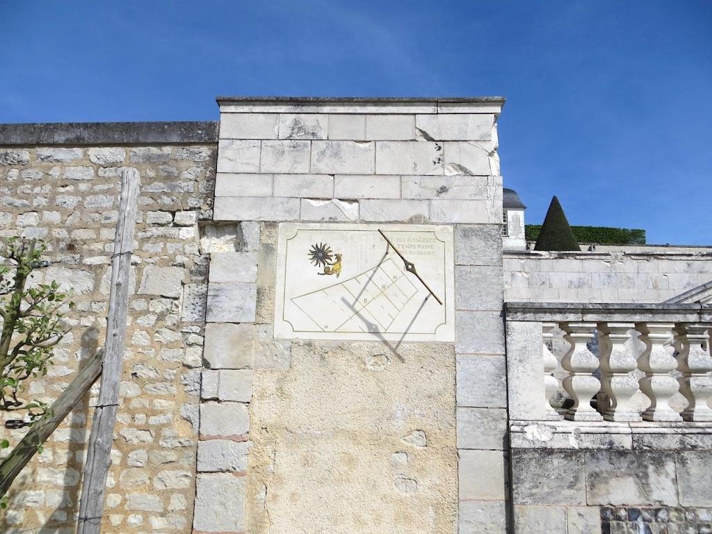 St Georges de Boscherville . Normandy . Vertical Sundial . Keith Salvesen